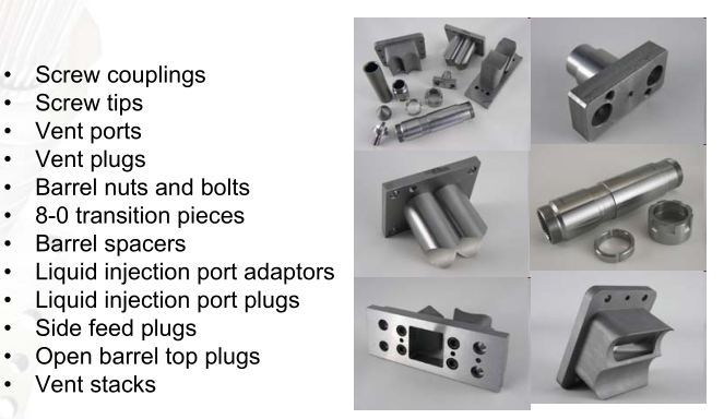 Twin Screw Extruder Spare Parts Intac Parts Amp Services