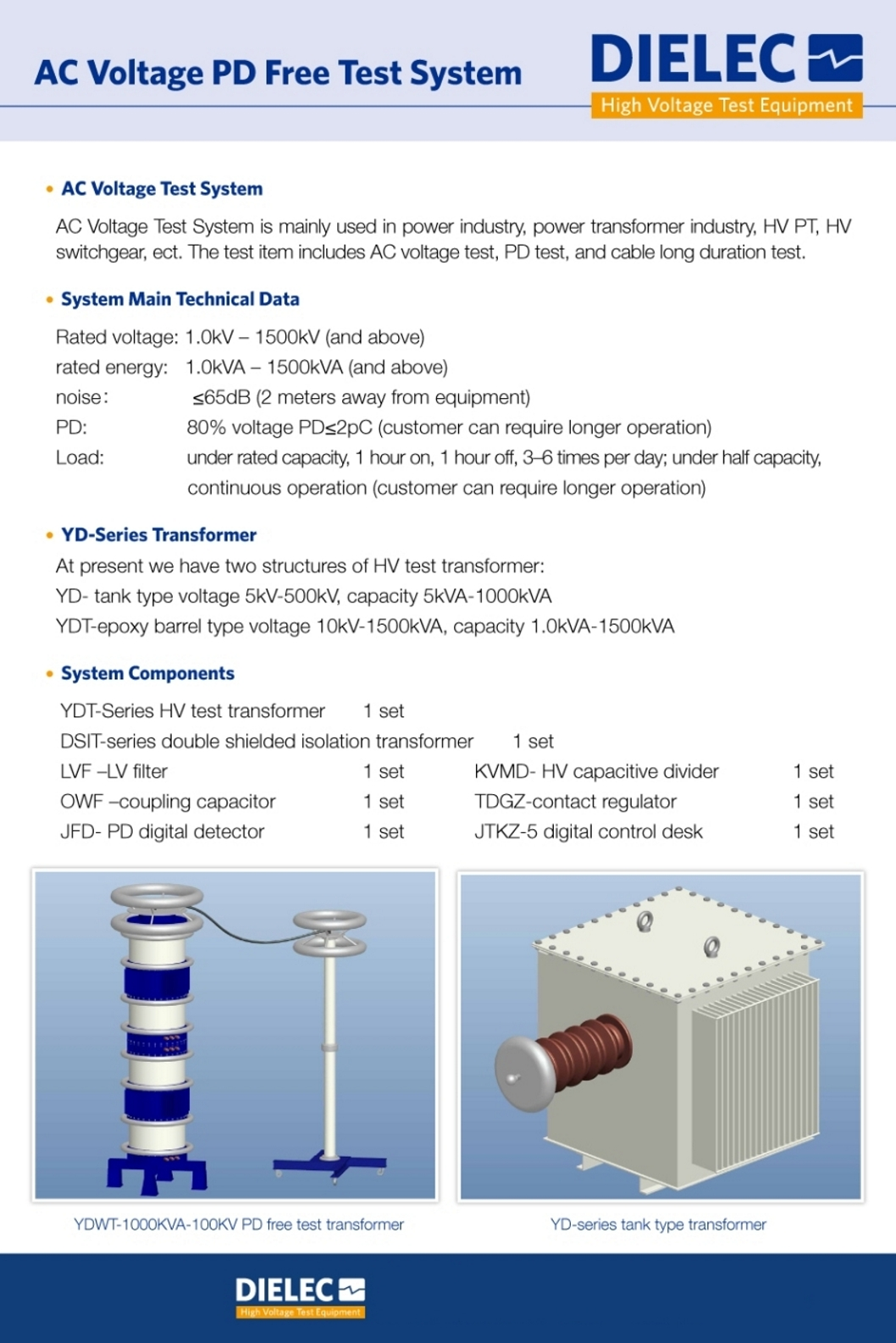 Dielec - Brochure - AC Voltage PD Free Test System