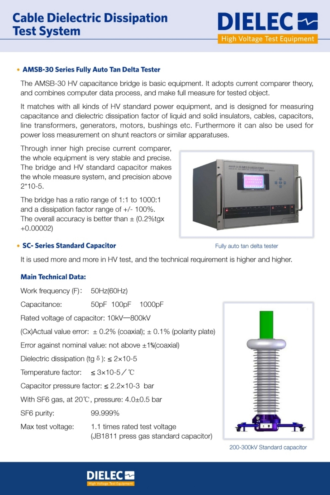 Dielec - Brochure - Cable Tangent Delta Test System
