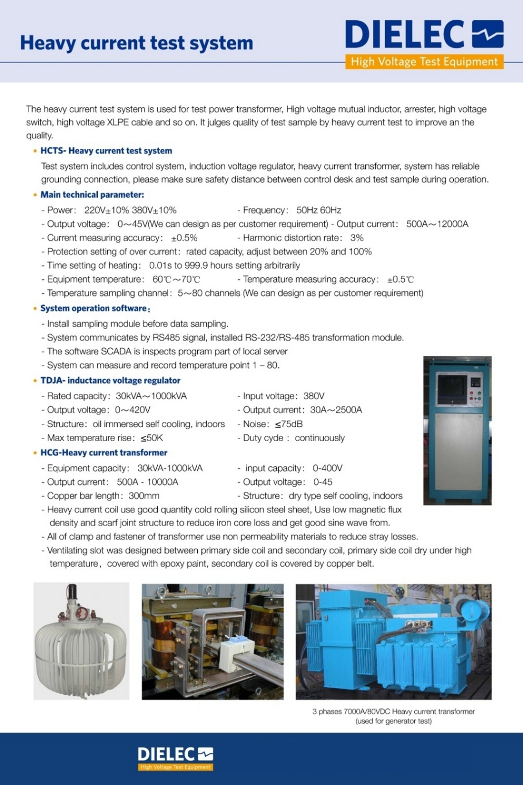 Dielec - Brochure - Heavy Current Test System