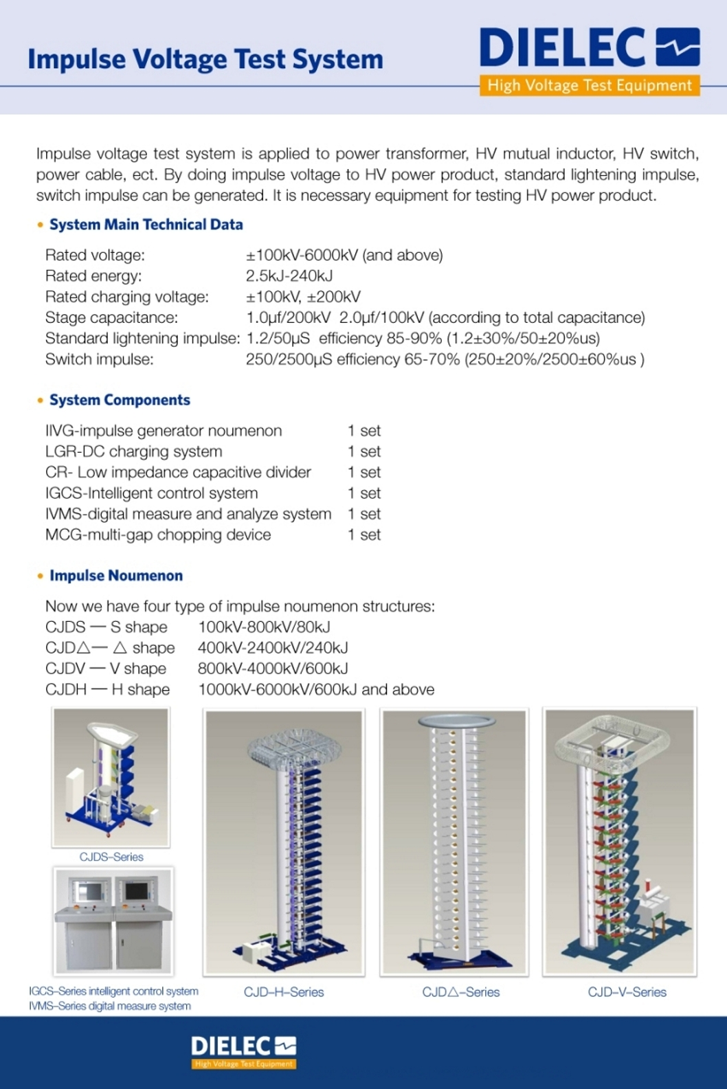 Dielec - Brochure - Impulse Voltage Test System