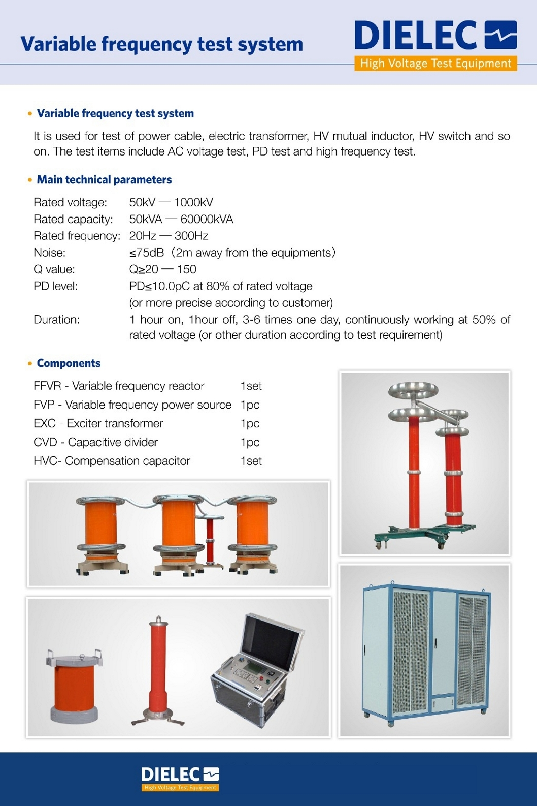 Dielec - Brochure - Variable Frequency Test System